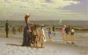 Samuel S Carr - Family at the Seashore