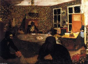 Jean Edouard Vuillard - A Family Evening