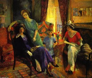 William James Glackens - Family group