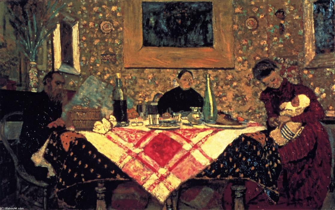 Family Lunch (also known as The Roussel Family at Table), 1899 by Jean Edouard Vuillard (1868-1940, France) | Oil Painting | WahooArt.com
