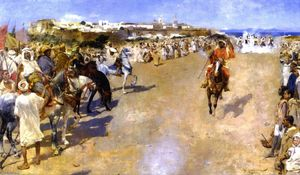 Theo Van Rysselberghe - Fantasia: Gunpowder Games, Morocco (also known as Fantasia: jeux de la poudre, MarocTangiers)