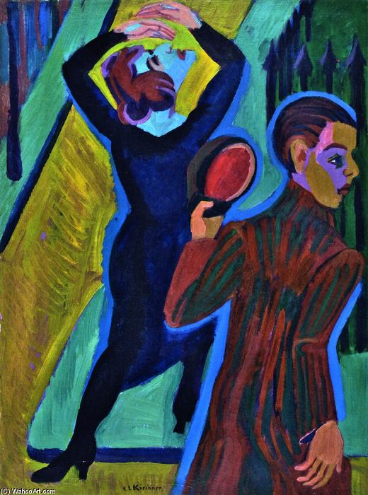 Farewell, 1925 by Ernst Ludwig Kirchner (1880-1938, Germany) | Famous Paintings Reproductions | WahooArt.com