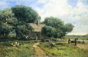 Andrew W Melrose - A Farm Along the River