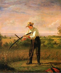William Sidney Mount - Farmer Whetting His Sythe
