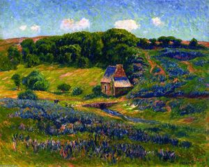 Henri Moret - Farm in the Breton Countryside