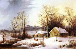George Henry Durrie - Farmstead in Winter