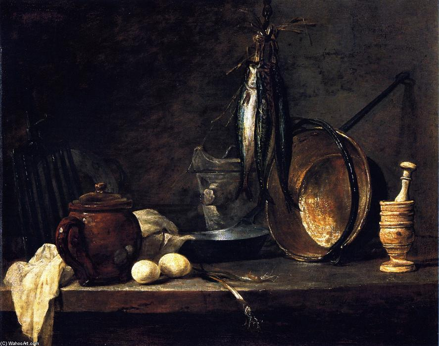 The Fast-Day Meal, 1731 by Jean-Baptiste Simeon Chardin (1699-1779, France) | Museum Quality Copies Jean-Baptiste Simeon Chardin | WahooArt.com