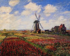 Claude Monet - Field of Tulips in Holland