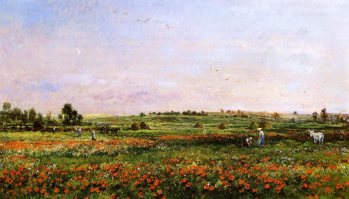 Fields in the Month of June by Charles François Daubigny (1817-1878, France) | Famous Paintings Reproductions | WahooArt.com