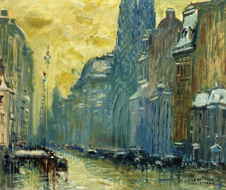 Order Museum Quality Reproductions : Fifth Avenue by Arthur Clifton Goodwin (1864-1929, United States) | WahooArt.com