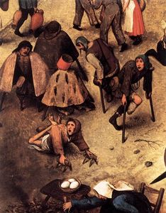 Pieter Bruegel The Elder - The Fight between Carnival and Lent (detail)