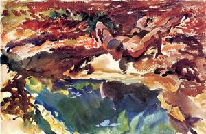 John Singer Sargent - Figure and Pool
