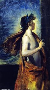 John Singer Sargent - Figure of Apollo from -The Forge of Vulcan- (after Velazquez)