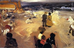 Alfred Henry Maurer - Figures by the Sea