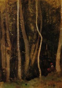 Jean Baptiste Camille Corot - Figures in a Forest
