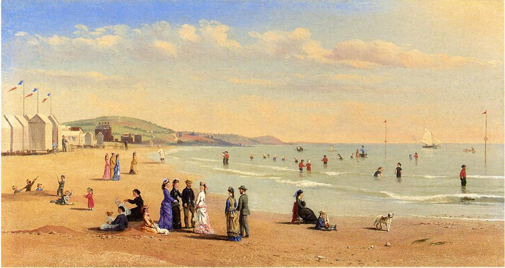 Order Famous Paintings Reproductions : Figures on a Beach by Conrad Wise Chapman (1842-1910, United States) | WahooArt.com