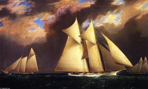 James Edward Buttersworth - The First America's Cup Race, August 8, 1870