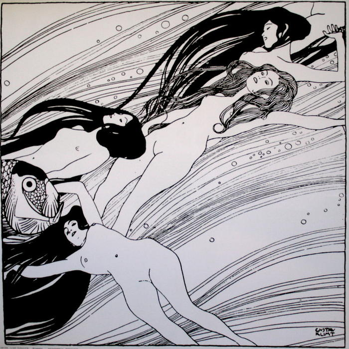 Order Reproductions | Fishblood, 1898 by Gustav Klimt (1862-1918, Austria) | WahooArt.com