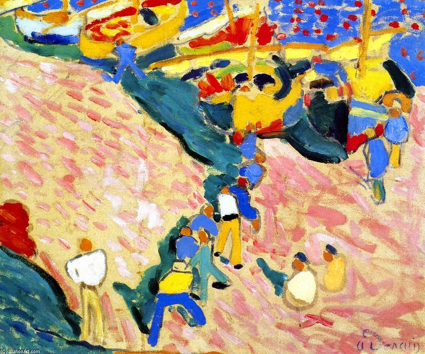 The Fishermen a Collioure, 1905 by André Derain (1880-1954, France) | Famous Paintings Reproductions | WahooArt.com