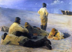 Peder Severin Kroyer - Fishermen on Skagens Beach