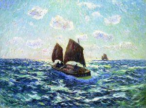 Henri Moret - Fishing Boat in Brittany