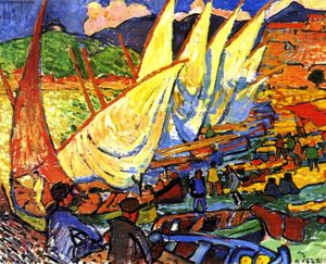 André Derain - Fishing Boats, Colioure