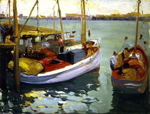 Franz Bischoff - Fishing Boats, L. A. Harbor
