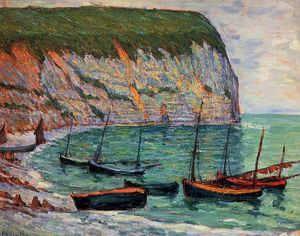 Maxime Emile Louis Maufra - Fishing Boats on the Shore