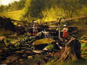 John George Brown - Fishing - Fort Lee, New Jersey