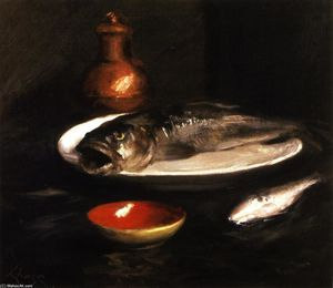 William Merritt Chase - Fish Still LIfe