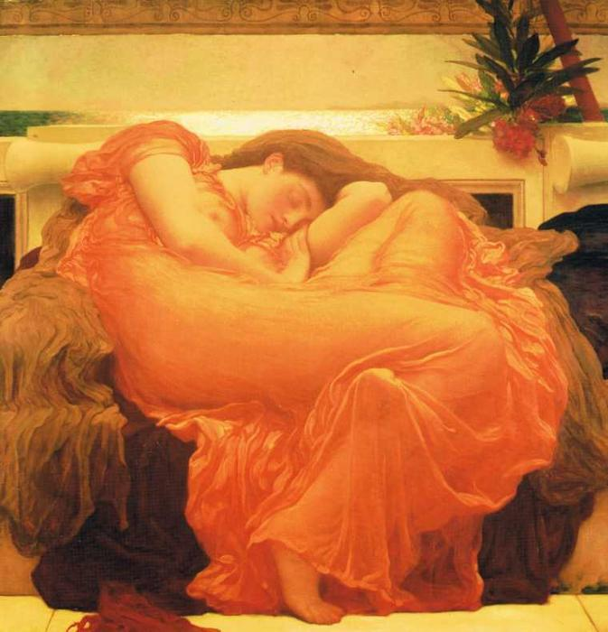 Flaming June, 1885 by Lord Frederic Leighton (1830-1896, United Kingdom) | Museum Quality Reproductions | WahooArt.com