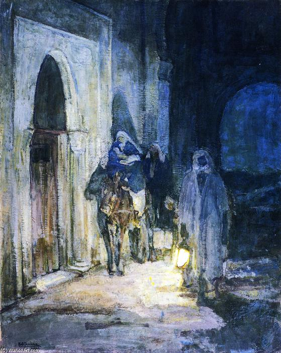 Flight into Egypt, 1923 by Henry Ossawa Tanner (1859-1937, United States) | Famous Paintings Reproductions | WahooArt.com
