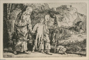 Rembrandt Van Rijn - The Flight into Egypt, The Holy Family Crossing the Rill