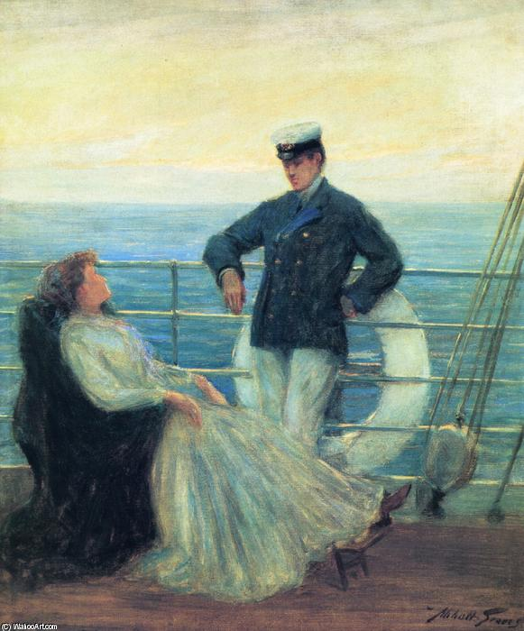 Flirtation, Oil On Canvas by Abbott Fuller Graves (1859-1936, United States)
