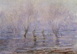 Claude Monet - Flood at Giverny