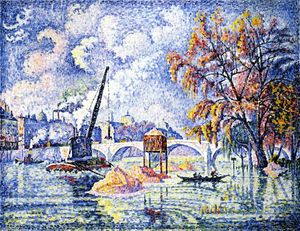 Paul Signac - Flood at the Pont Royal, Paris