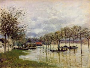 Alfred Sisley - The Flood on the Road to Saint-Germain