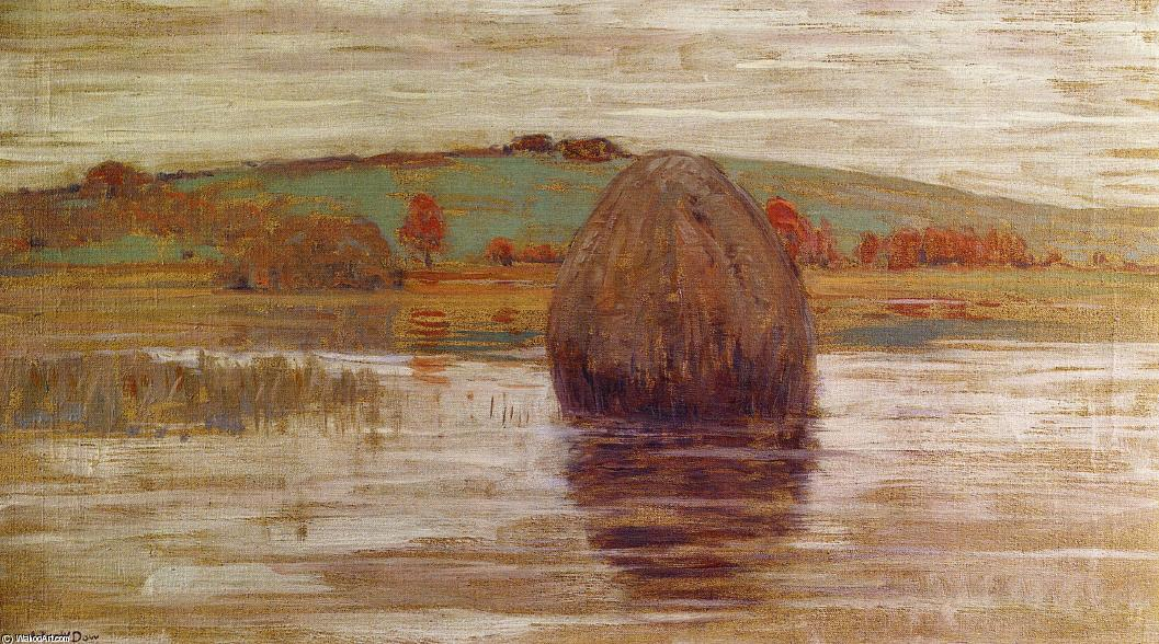 Flood Tide, Ipswich Marshes, Massachusetts, 1900 by Arthur Wesley Dow (1857-1922, United Kingdom) | Oil Painting | WahooArt.com