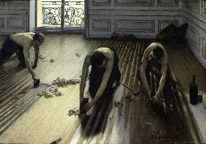 Gustave Caillebotte - The Floor Scrapers (also known as The Floor Strippers)