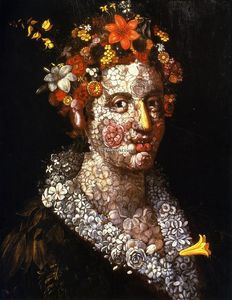 Giuseppe Arcimboldo - Floral Still LIfe - (Famous paintings reproduction)