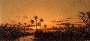 Martin Johnson Heade - Florida River Scene: Early Evening, After Sunset