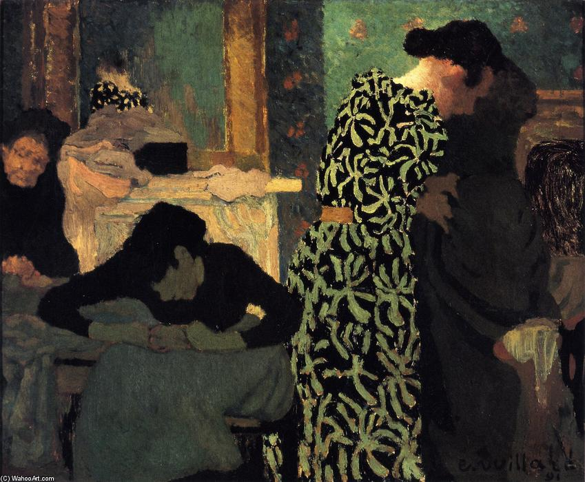 The Flowered Dress, Oil On Canvas by Jean Edouard Vuillard (1868-1940, France)