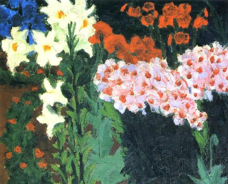 Flower Garden, 1913 by Emile Nolde (1867-1956, Germany) | Famous Paintings Reproductions | WahooArt.com