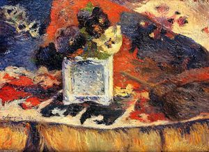 Paul Gauguin - Flowers and Carpet (also known as Pansies)