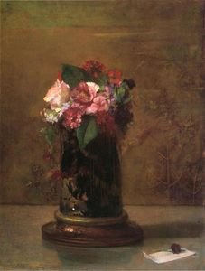John La Farge - Flowers in a Japanese Vase