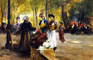 Mathias Joseph Alten - Flower Vendors