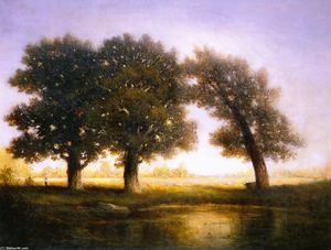 Gilbert Munger - Fontainebleau (also known as Three Trees)