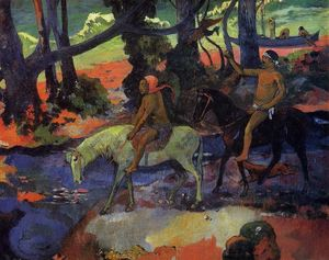 Paul Gauguin - The Ford (also known as Flight)