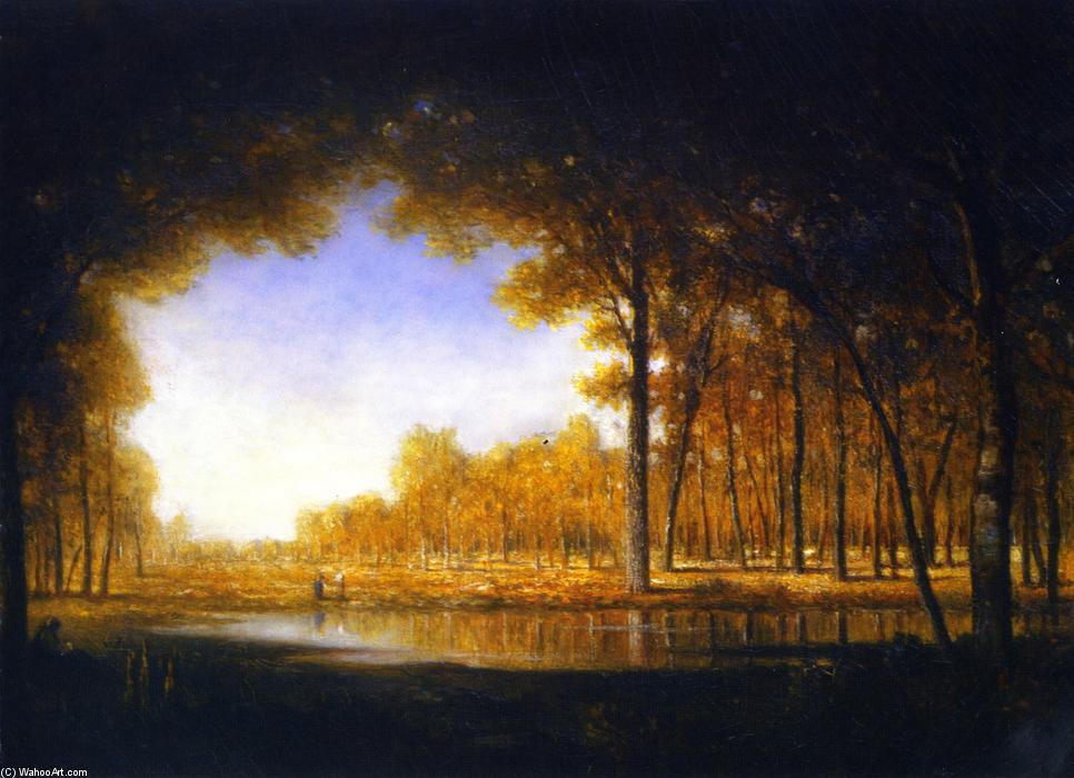 Order Oil Painting : Forest of Fontainebleau by Gilbert Munger (1837-1903, United States) | WahooArt.com