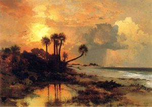 Thomas Moran - Fort George Island (also known as whistlejacket)